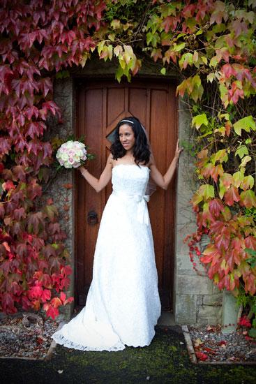 Bridal Portrait at Armathwaite Hall Wedding Venue - Lake District