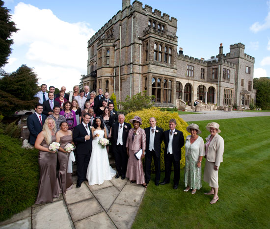 Wedding party at Armathwaite Hall