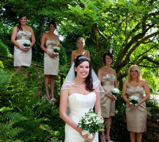 Bride and Bridesmaids in Cumbria