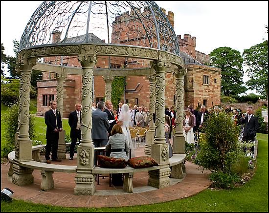 Dalston Hall outside Wedding Photograph