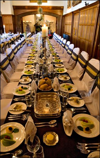 Dalston Hall Wedding set up