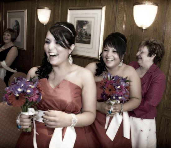 Bridesmaids at the Lodore Falls