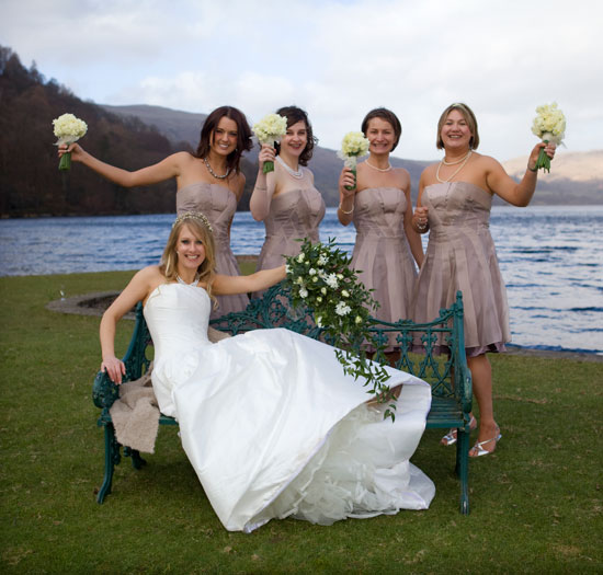 Bride and Bridesmaids Ullswater