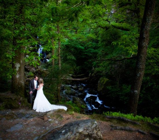 Lodore Falls Wedding Photograph