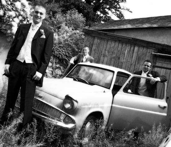 Groom and Ushers in the Lake District