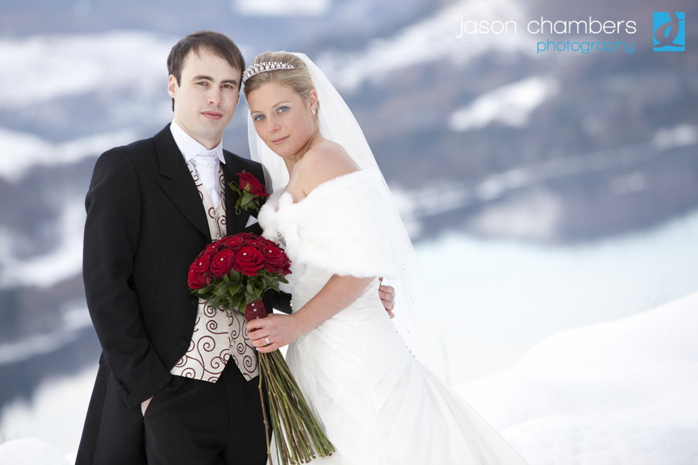 Lake District Wedding in the snow