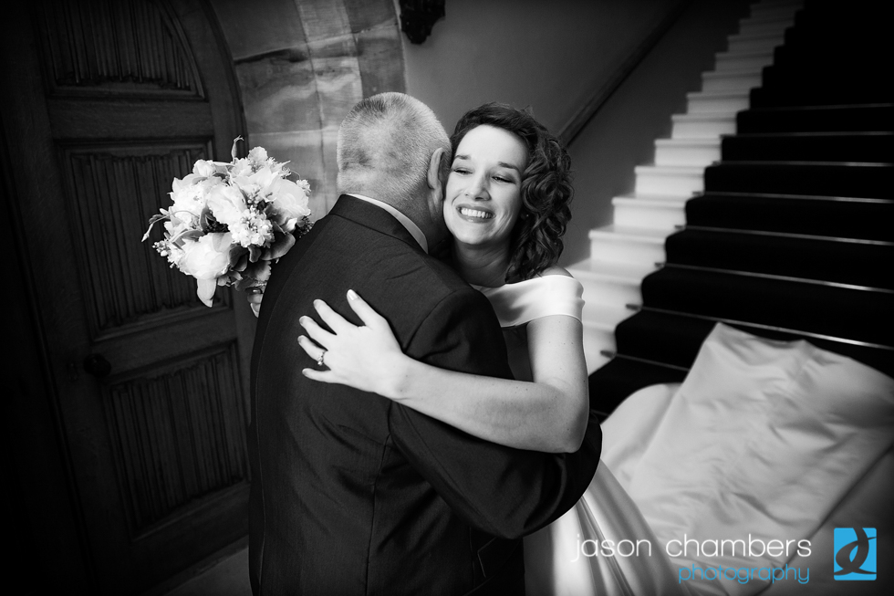Natural portrait - Bride and Father