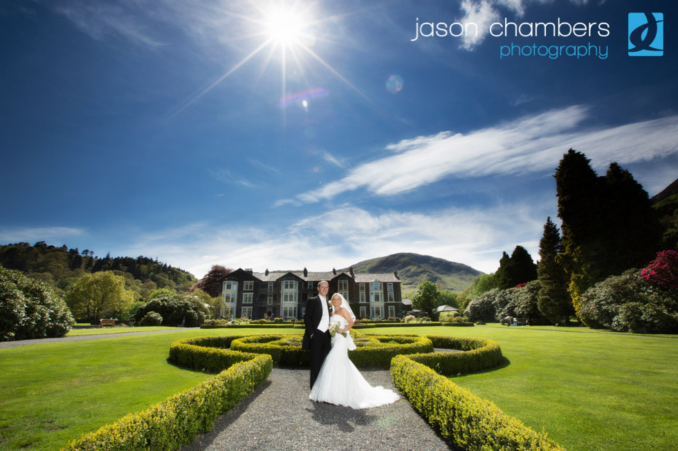 Bride and Groom wedding photographs - Lake District