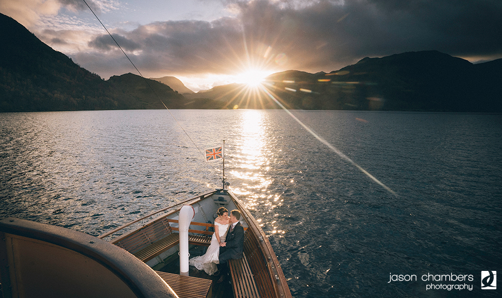 Sunset Wedding Cruise on Ullswater