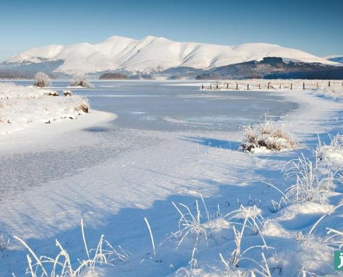Skiddaw Winter Scene captured from Lodore