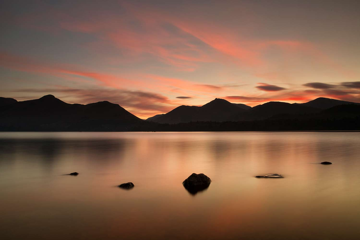 Derwent Water Sunset Image