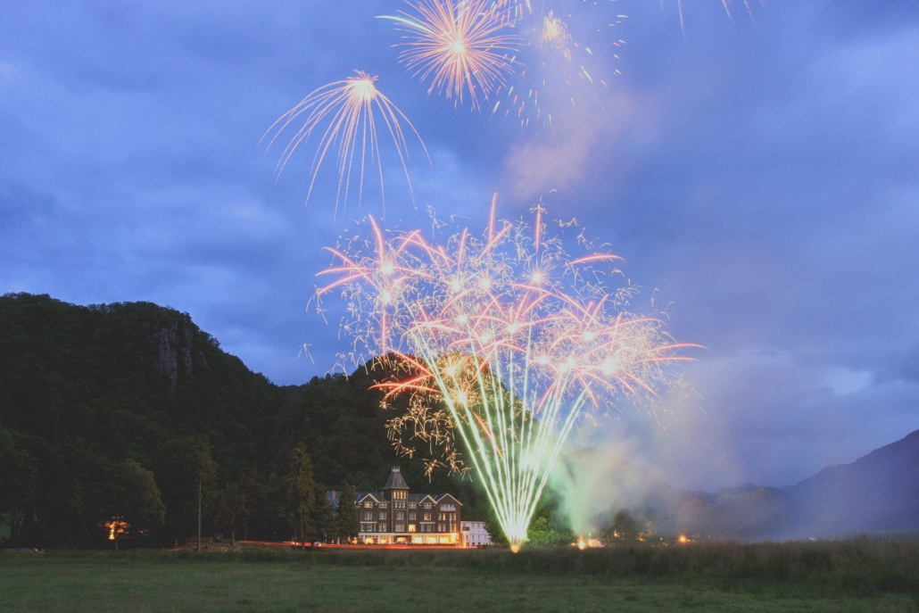 Fireworks at the Lodore Falls Hotel
