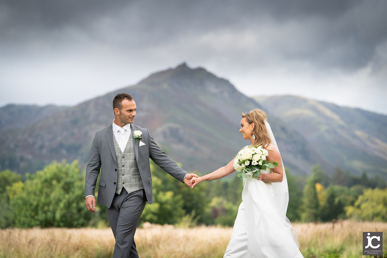 Bride and Groom, wedding in Grasmere