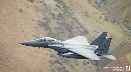 F15 American Eagle low level flying in Cumbria - image