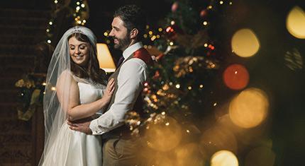 Armathwaite Hall Christmas Wedding Photographs for Jessica and John - image
