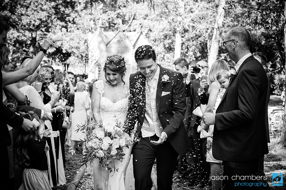 Matthew & Sara - A timeless classic black and white wedding photograph - Photo of the Month September