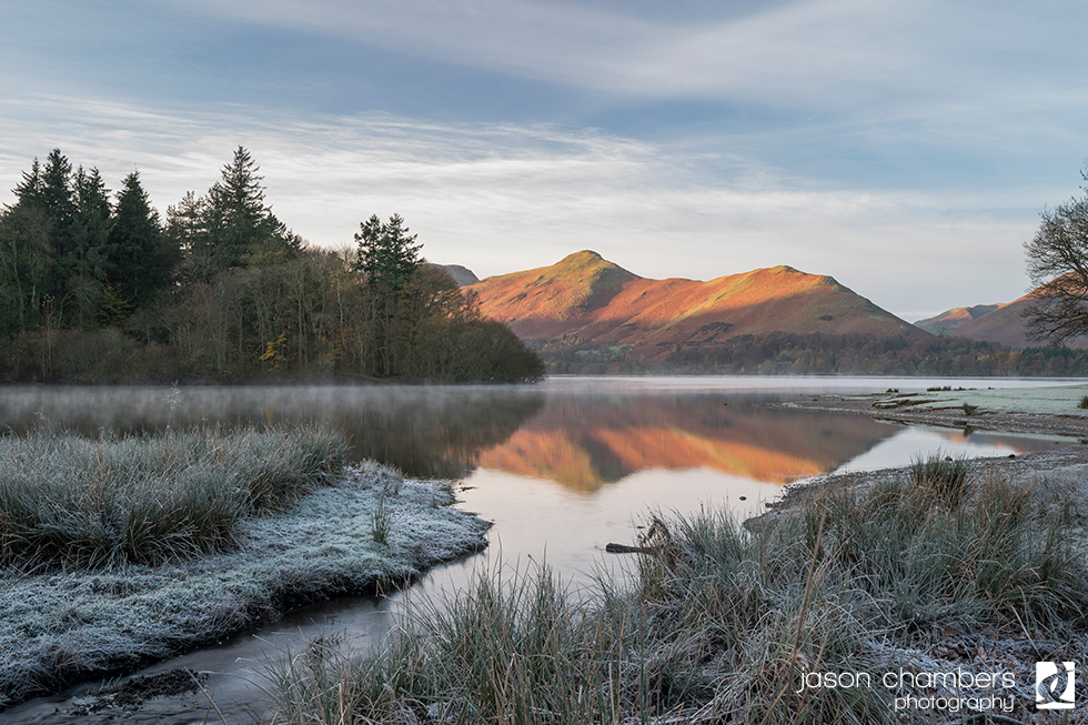 Derwentwater and Cat Bells Winter Landscape