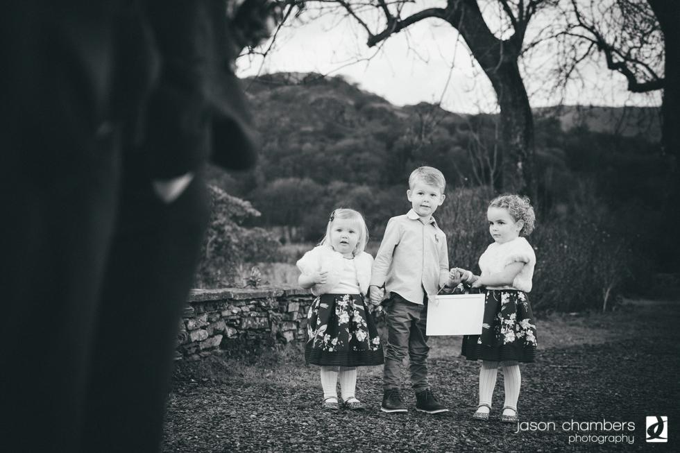 Candid wedding photographs in Grasmere
