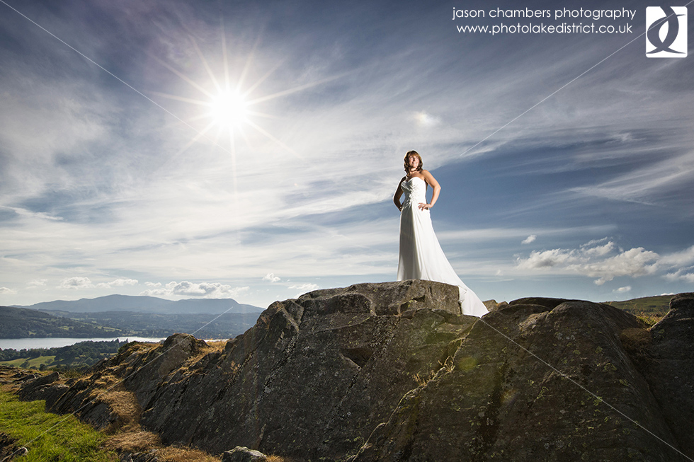 Lake Windermere Wedding Portrait