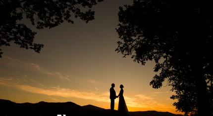 Lodore Falls Hotel Wedding Sunset
