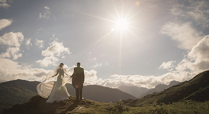 Protected: Chris and Lucy's wedding photographs at the Langdale Chase on Lake Windermere - image