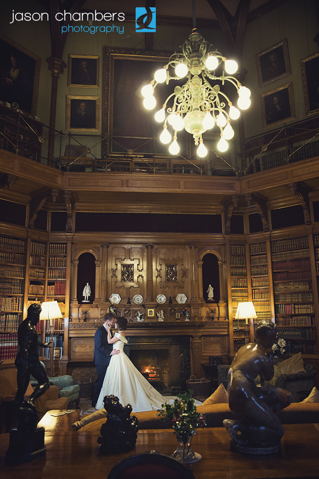 Muncaster Library Wedding Photo