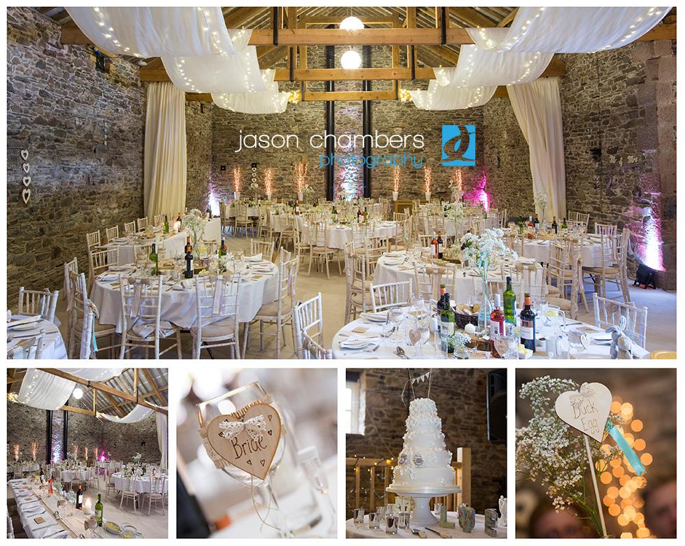 Wedding barn set up