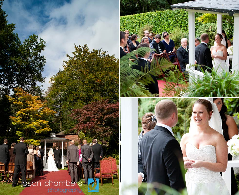 Susan and Paul 39s amazing outside Wedding Ceremony at Broadoaks Country House