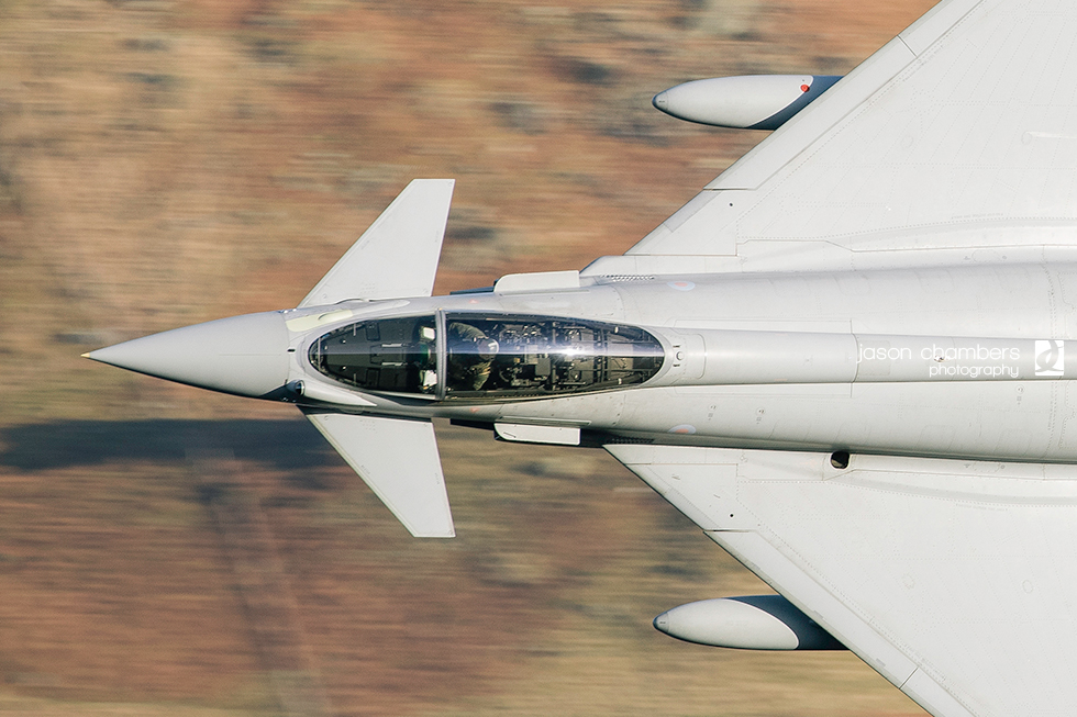 RAF Typhoon in the Lake District - Photo of the month January