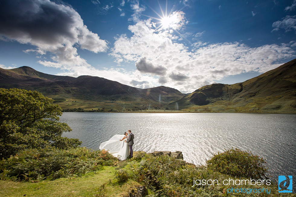 Meg & Chris married in the Lakes