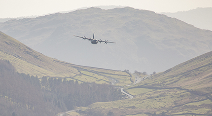 Dunmail Raise and RAF Hercules low level flying - image