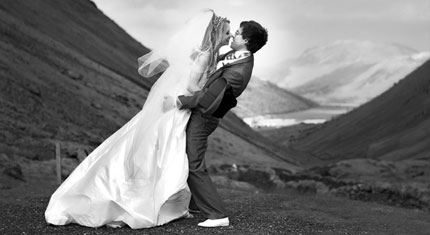 Helen & Dan – St Oswalds Church Grasmere. Reception at the Inn on the Lake Ullswater. - image