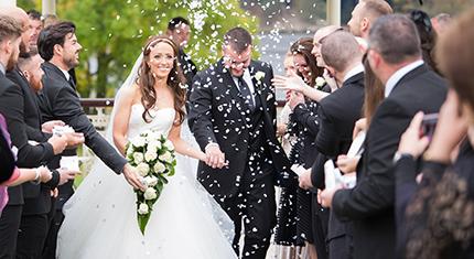 wedding gazebo confetti